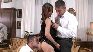Big butt babe Tina Hot has a passion for threesome in HD