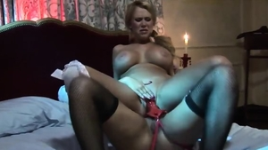 Blonde haired Eva Angelina along with Carly Parker strapon