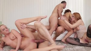 Young Cristal Caitlin orgy scene