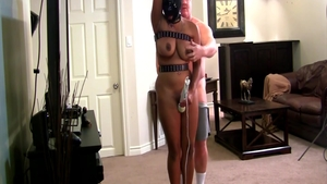 Bound escorted by bubble butt babe