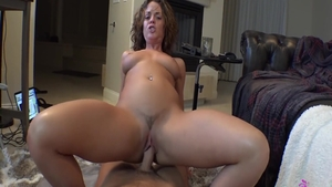 Nailed rough next to big boobs brunette Rahyndee James