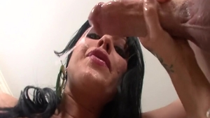 Brunette Sadie West face fuck XXX video