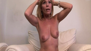 Mature touches natural tits