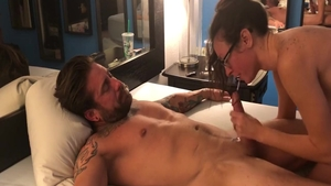 The best sex together with very sexy brunette