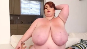 Big boobs BBW Lexxxi Luxe hardcore does what shes told