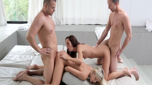 Sex with super hot Gina Devine in company with Dido Angel