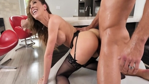 Hard ramming with hot stepmom herie Deville