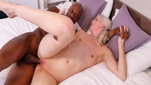 Black Guy escorted by big boobs blonde babe Lexi Lou