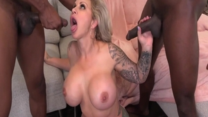 Large boobs and busty Ryan Conner anal interracial