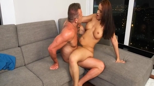 Busty and very sexy stepmom Miss Raquel hardcore pussy fucking