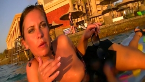 Hard pounding in the company of horny stepmom