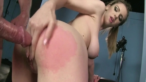 Hot Stella Cox and Ben Dover raw handjob