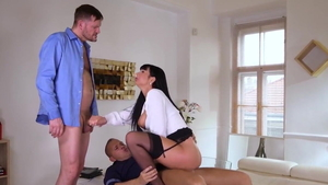 The best sex with hottest Valentina Ricci and Thomas Stone