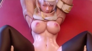 Very hot and big boobs celebrity in panties fantasy femdom 3d