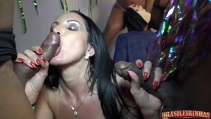 Group sex in the company of super hot latina slut