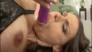 Big tits brunette feels up to plowing hard