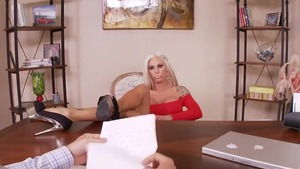 Big ass blonde haired Lolly Ink sucking cock in HD