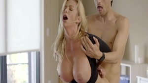 Hard pounding starring busty housewife Alexis Fawx